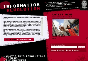 Information Revolution website screenshot