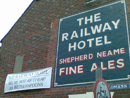 Railway Hotel sign