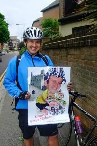 Simon on 100 mile bike ride