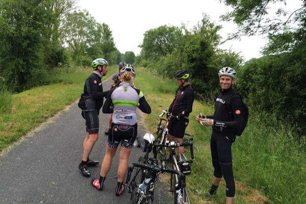 Puncture on the Avenue Verte