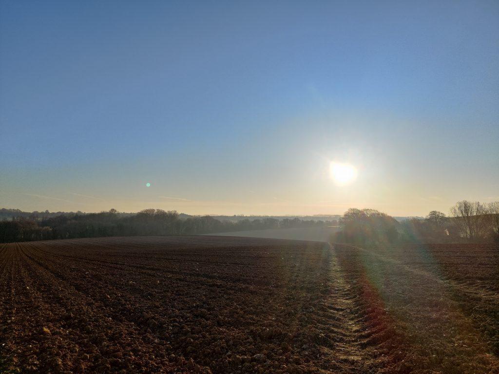 Sunrise over Bishopsbourne, March 2021
