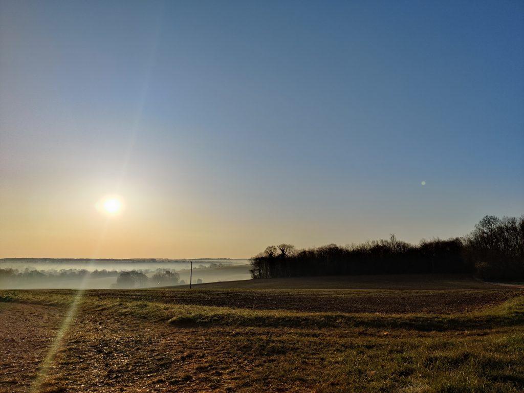 Sunrise over Middle Pett Farm, Bridge - 13th April 2021